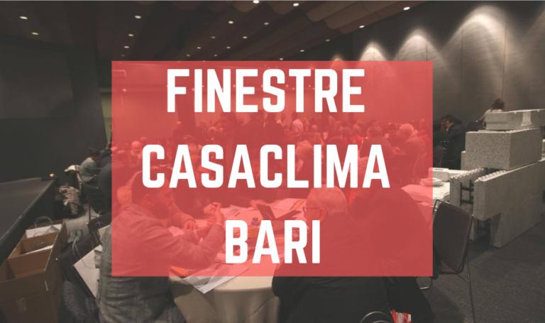 Finestre CasaClima Bari